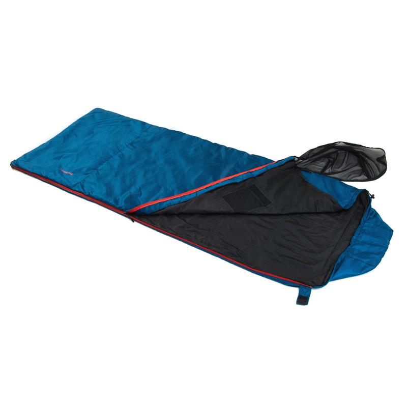 Snugpak Travelpak Traveller PETROL BLUE Antibacterial Sleeping Bag Mosquito Net